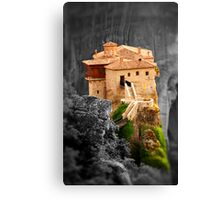 Meteora Mountain Monateries, Greece 3 Canvas Print