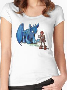 How To Train Your Dragon 'Toothless'  By EmegE  Women's Fitted Scoop T-Shirt