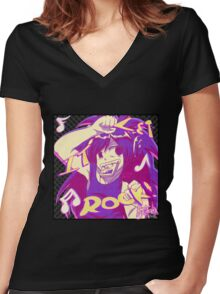 Psychteria - LET IT ROCK Women's Fitted V-Neck T-Shirt