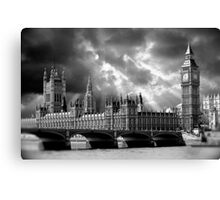 Houses of Parliament & Big Ben Tower - London Canvas Print