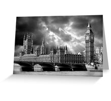 Houses of Parliament & Big Ben Tower - London Greeting Card