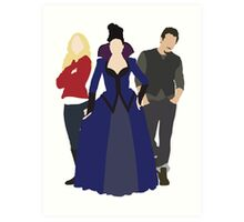 Emma, Regina, and Neal - Once Upon a Time Art Print