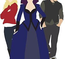 Emma, Regina, and Neal - Once Upon a Time by eevylynn