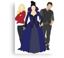 Emma, Regina, and Neal - Once Upon a Time Canvas Print