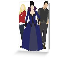 Emma, Regina, and Neal - Once Upon a Time Greeting Card