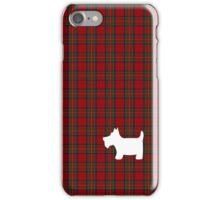 Royal Stewart Tartan Plaid and Scottie Dog iPhone Case/Skin