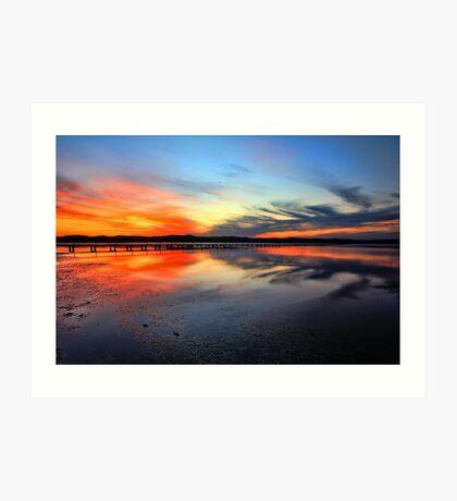 Sunset @ Long Jetty, Tuggerah Lake Art Print