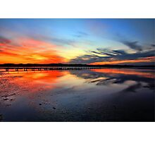 Sunset @ Long Jetty, Tuggerah Lake Photographic Print