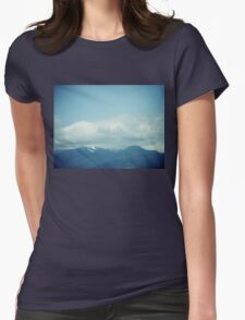 Clouds & Mountains Womens Fitted T-Shirt