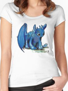 How To Train Your Dragon 'Toothless' by EmegE (Edited) Women's Fitted Scoop T-Shirt