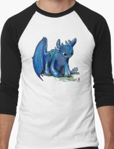 How To Train Your Dragon 'Toothless' by EmegE (Edited) Men's Baseball ¾ T-Shirt