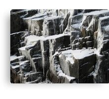 Ice on Canadian Shield Muskoka Canvas Print
