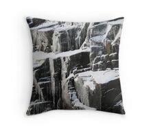 Ice on Canadian Shield Muskoka Throw Pillow