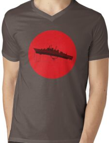 Neon Genesis Evangelion - EVA Unit 02 (Boat Lift) Mens V-Neck T-Shirt