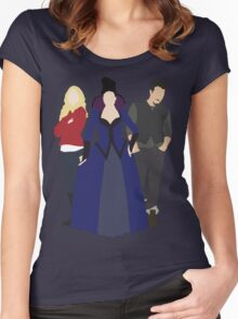 Emma, Regina, and Neal - Once Upon a Time Women's Fitted Scoop T-Shirt