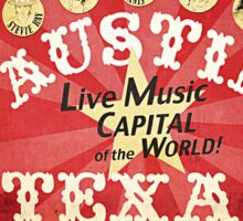 Austin Live Music Sticker