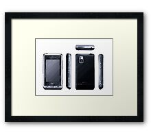 Cell Phone Orthographic Framed Print