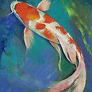 Kohaku Butterfly Koi by Michael Creese