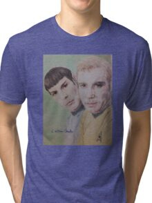 Spock and Kirk Tri-blend T-Shirt