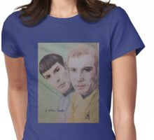 Spock and Kirk Womens Fitted T-Shirt