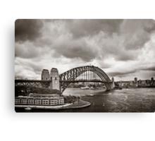 Sydney Harbour Bridge in B&W Canvas Print