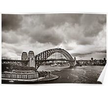 Sydney Harbour Bridge in B&W Poster
