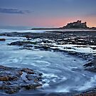 Last light at Bamburgh by Phillip Dove
