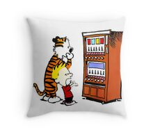 Calvin Hobbes Vending Machine Throw Pillow