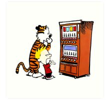 Calvin Hobbes Vending Machine Art Print