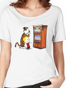 Calvin Hobbes Vending Machine Women's Relaxed Fit T-Shirt