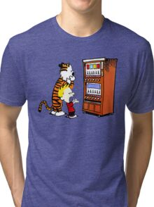Calvin Hobbes Vending Machine Tri-blend T-Shirt