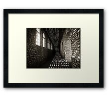 Inside the stone boathouse Framed Print