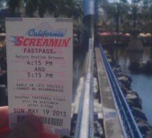 California Screamin' Sticker