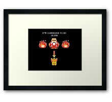 It's Dangerous To Go Alone - Legend of Zelda Framed Print
