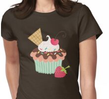 Cherry on Top Cupcake Womens Fitted T-Shirt