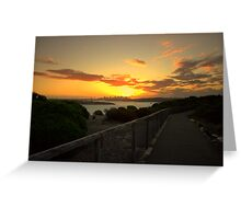 north head manly -while you walk Greeting Card