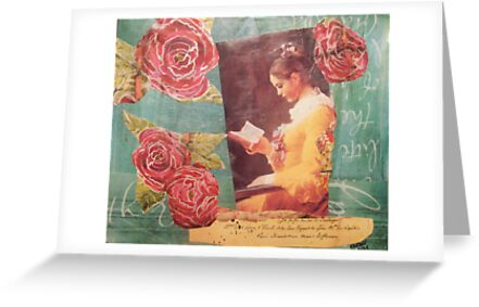 Girl Reading by Kanchan Mahon