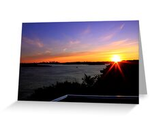 north head manly - lookout Greeting Card