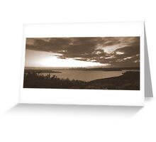 north head manly - sepia sunset Greeting Card