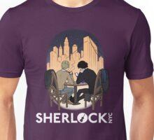Sherlock NYC - Night (White Logo) Unisex T-Shirt