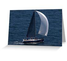 north head manly - sail Greeting Card