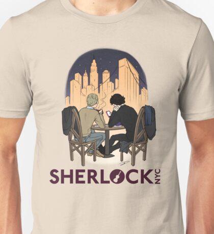 Sherlock NYC - Night (Purple Logo) Unisex T-Shirt