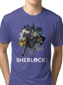 Sherlock NYC - Day (White Logo) Tri-blend T-Shirt