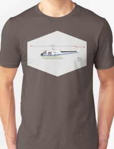 NASA Bell UH-1B Helicopter T-Shirt