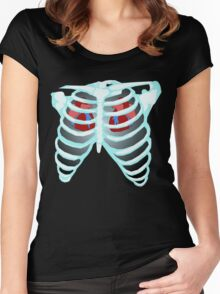 Timelord X-Ray Women's Fitted Scoop T-Shirt