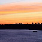 north head manly - Harbour Bridge in the sunset by miroslava