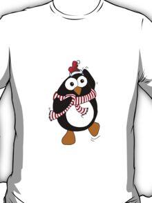 Funny Christmas penguin dancing in the Antarctic.  T-Shirt