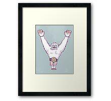 Y is for 'Ya Did It' Yeti Framed Print