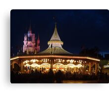 Prince Charming's Regal Carrousel Canvas Print