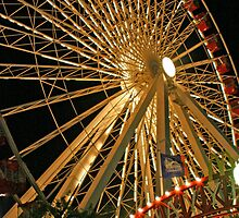 Ferris Wheel at Navy Pier, Chicago by Brad Baurain